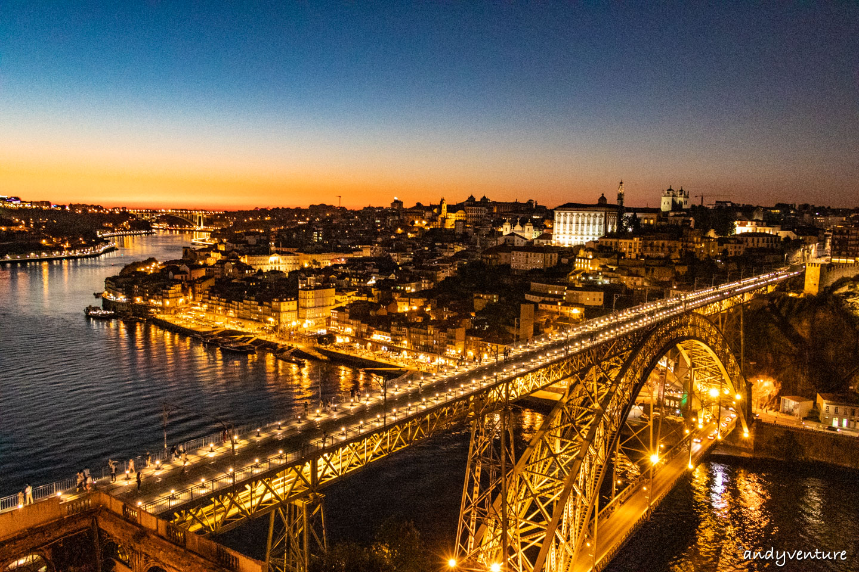 路易一世大橋夜景-從杜羅河畔到鐵橋路線|波多|葡萄牙租車