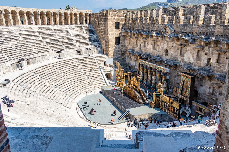阿斯班多斯Aspendos-保存最完好的古羅馬大劇場|安塔利亞Antalya|土耳其租車旅遊