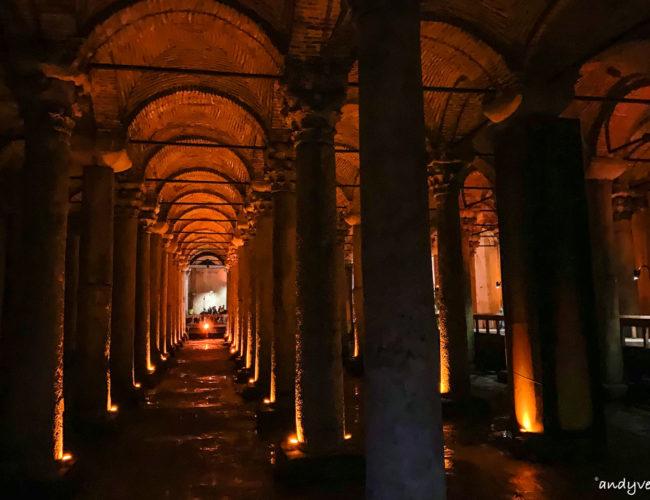 地下水宮殿-令人小失望的巨大地底水槽 伊斯坦堡 土耳其租車旅遊