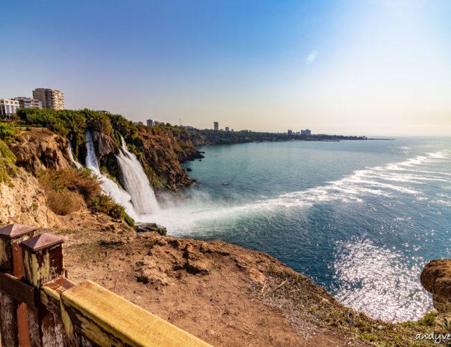 杜登瀑布-穿越古城的大瀑布|安塔利亞Antalya|土耳其租車旅遊