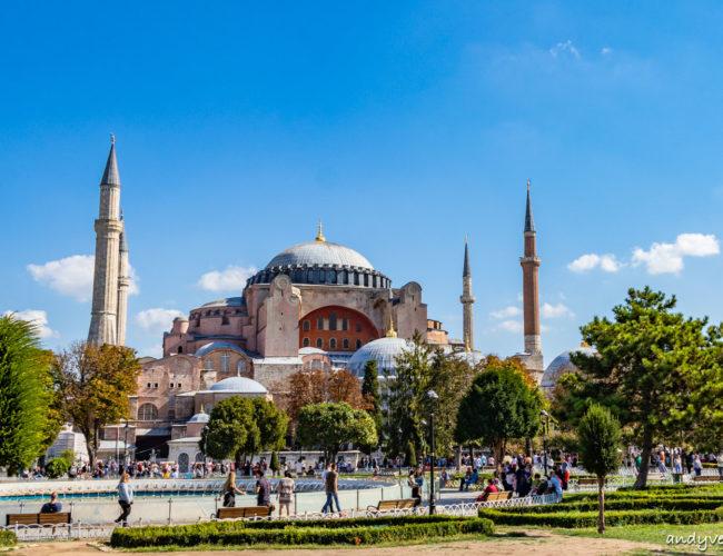 聖索菲亞大教堂-融合伊斯蘭教與基督教的古老教堂 伊斯坦堡 土耳其租車旅遊