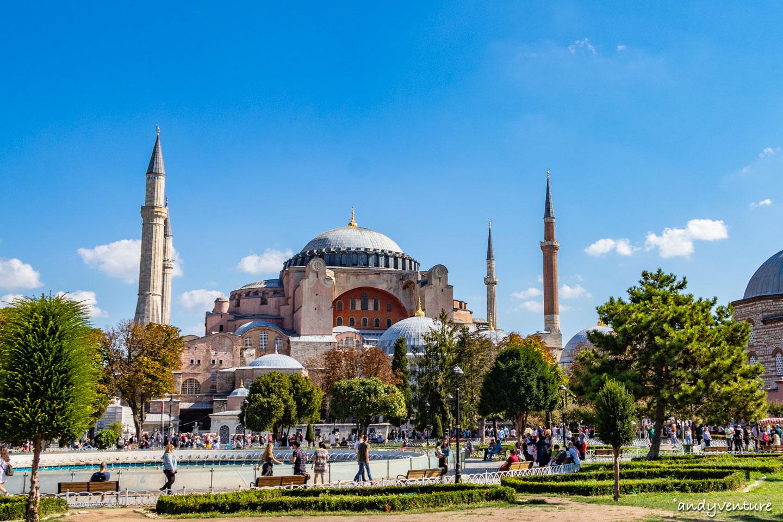 聖索菲亞大教堂-融合伊斯蘭教與基督教的古老教堂|伊斯坦堡|土耳其租車旅遊