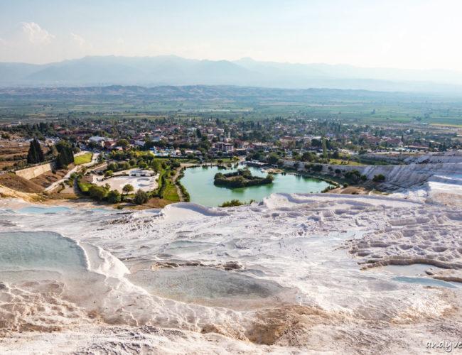 棉堡-古代溫泉與白色梯田奇景|棉花堡(Pamukkale)|土耳其租車旅遊